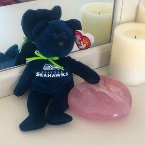 TY Seattle Seahawks Beanie Baby Bear